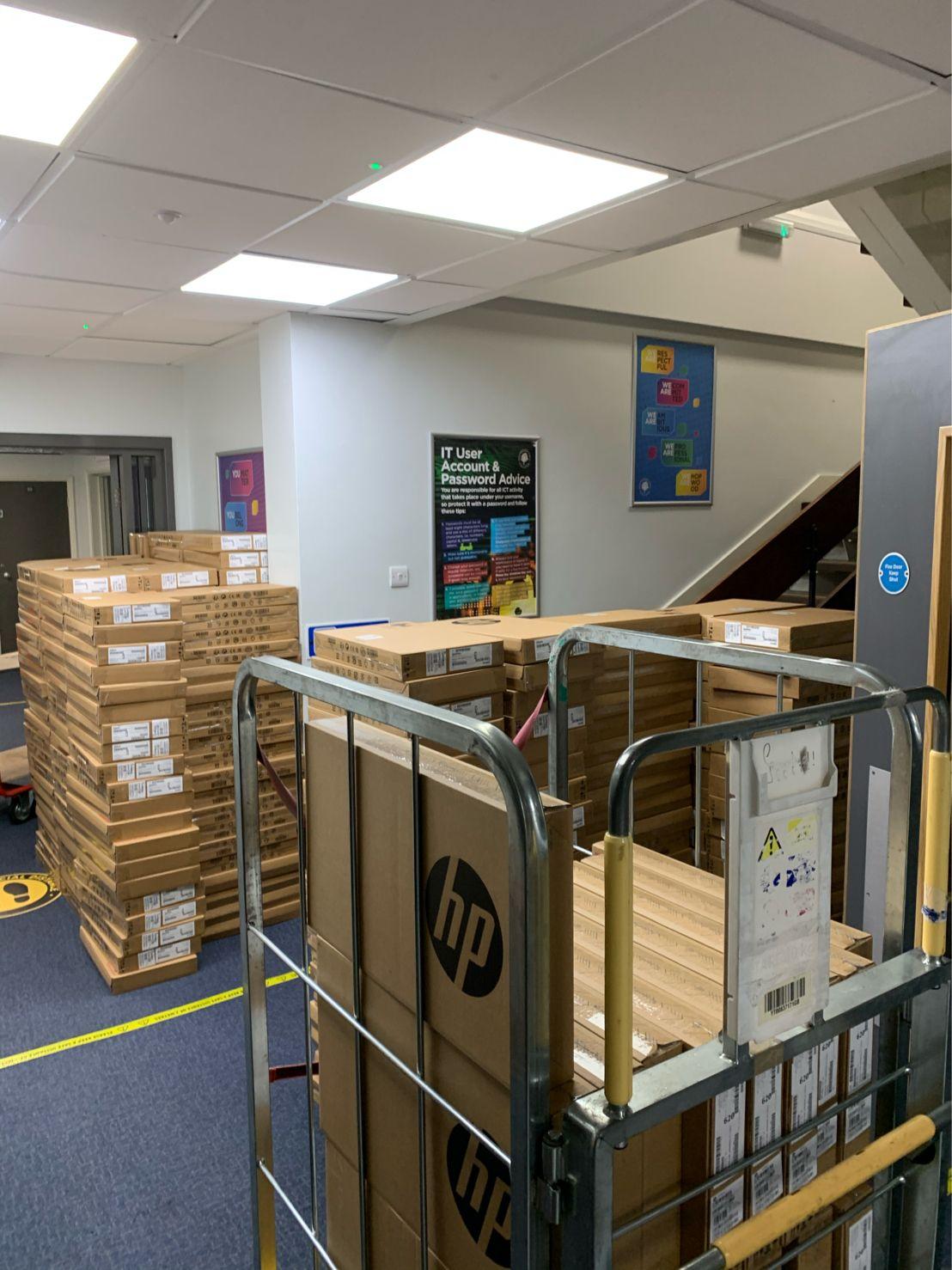 Hopwood Hall College Laptop Deliveries
